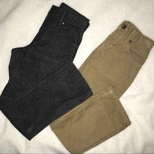 Bundle 2 Gapkids Corduroy pants beige & black